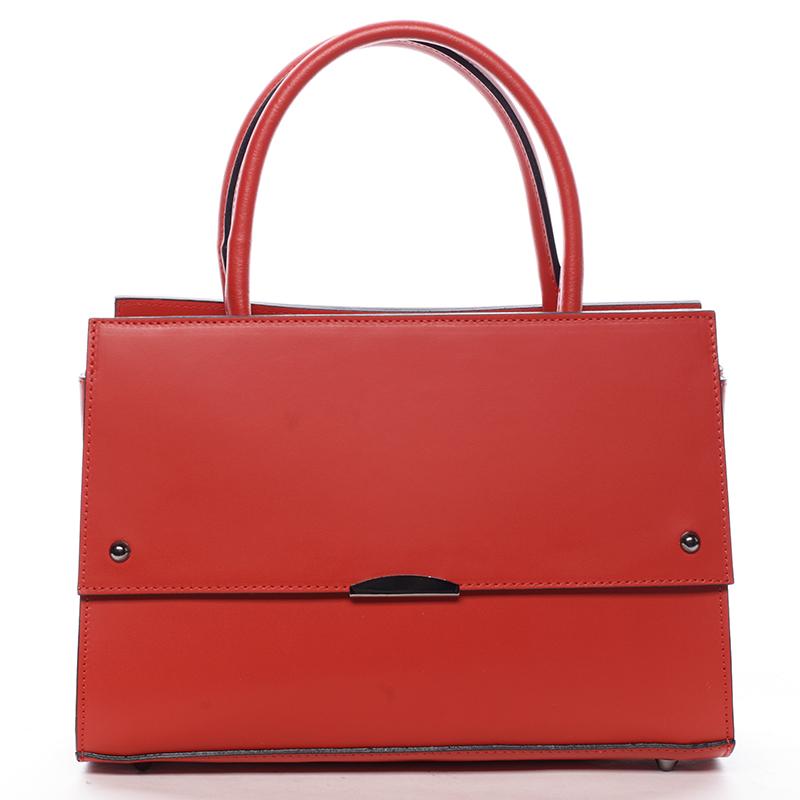 Exkluzivní dámská kožená kabelka červená - ItalY Alita