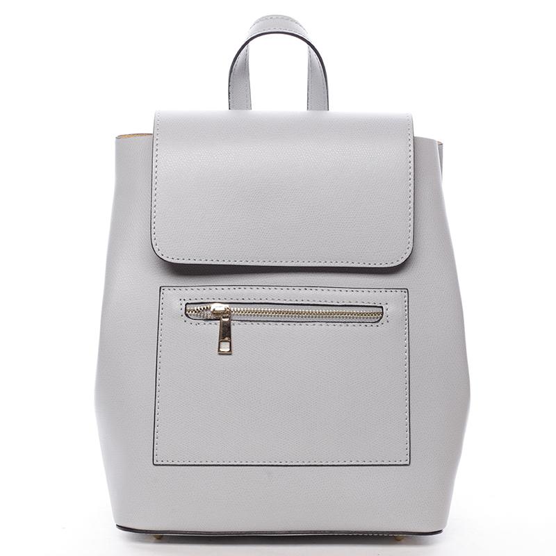 Dámský městský batoh kožený šedý - ItalY Bernadea