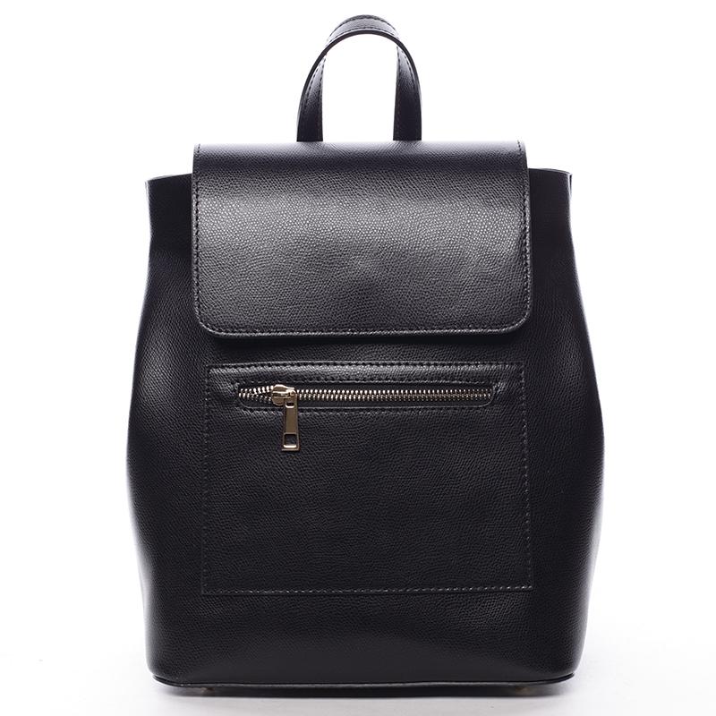 Dámský městský batoh kožený černý - ItalY Bernadea