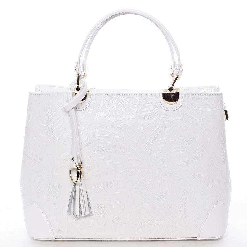 Originální dámská kožená kabelka bílá - ItalY Mattie