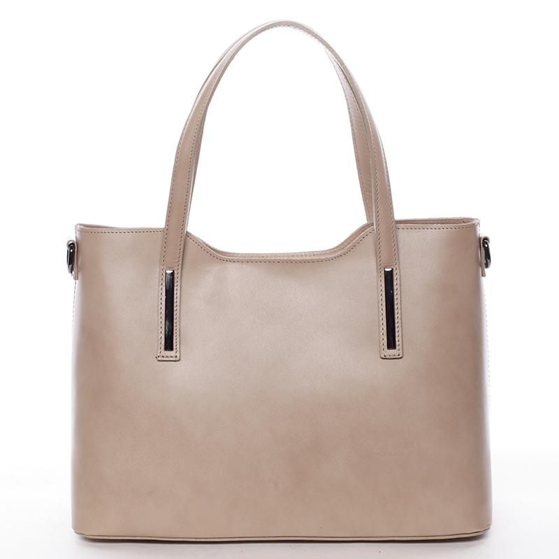 Menší kožená kabelka meruňková - ItalY Alex