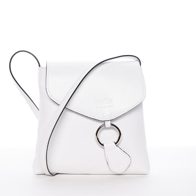 Dámská kožená crossbody kabelka bílá - ItalY Saffie