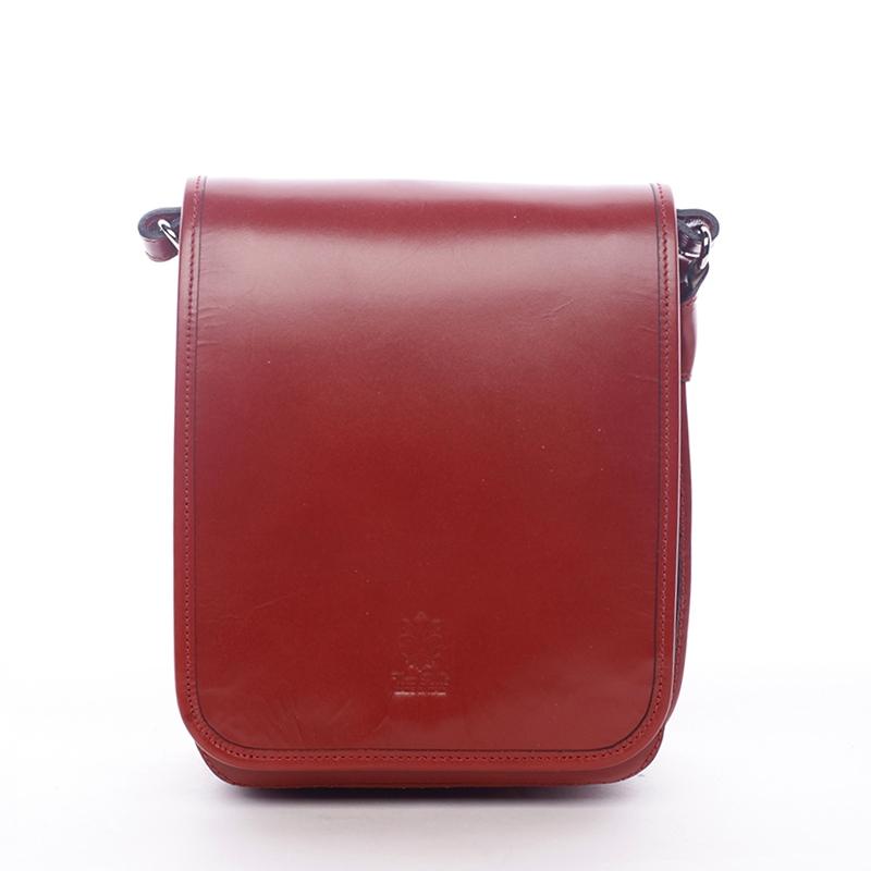 Luxusní červená kožená taška přes rameno ItalY Harper