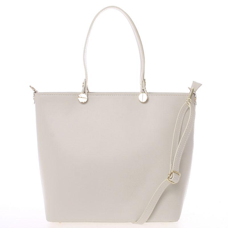 Dámská kožená kabelka béžová - Delami Valentina