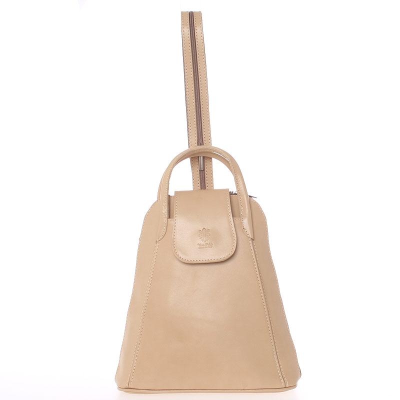 Dámský originální kožený tělový batůžek - ItalY Zenobe