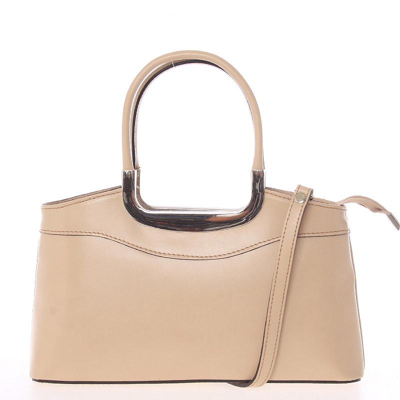 Tělová kožená kabelka do ruky - ItalY Stefanie