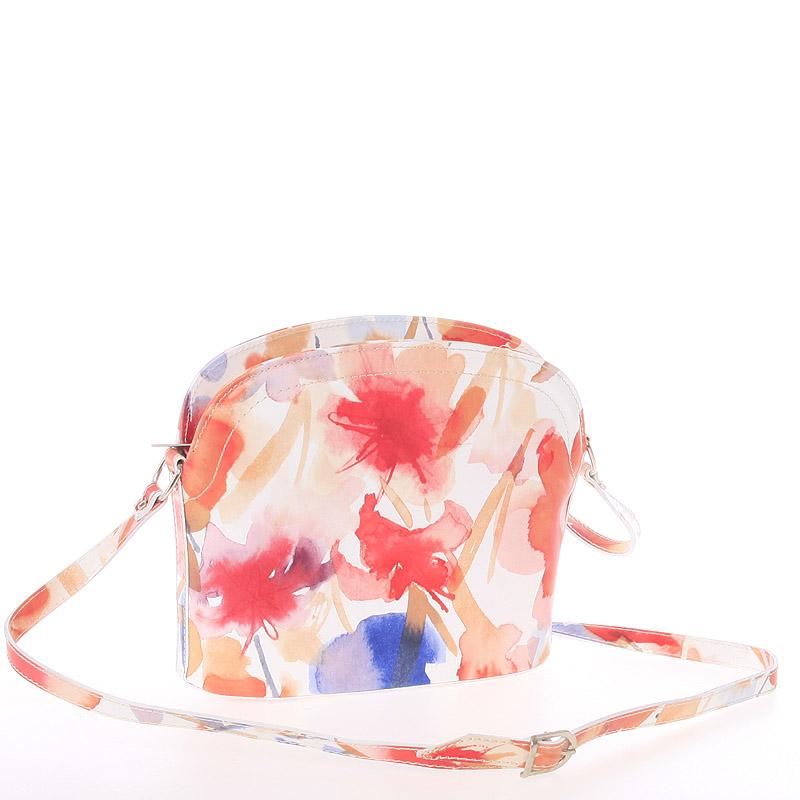Dámská kožená crossbody kabelka květinová - ItalY Tracy