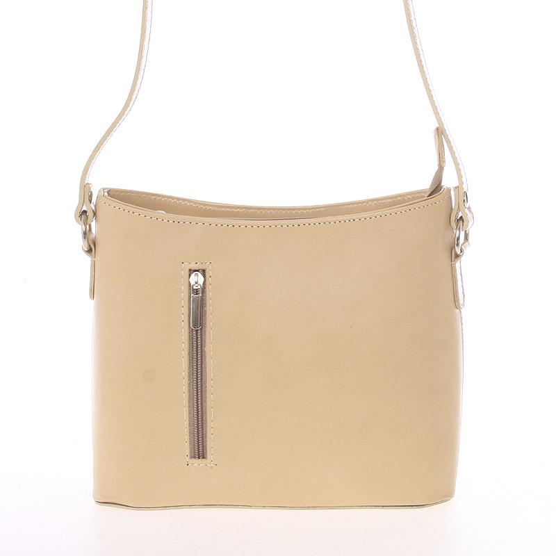 Malá taupe kožená crossbody kabelka  - ItalY Madora