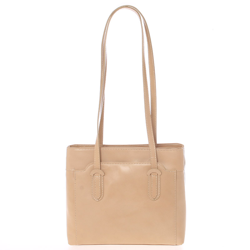 Taupe kožená kabelka přes rameno - ItalY Yura