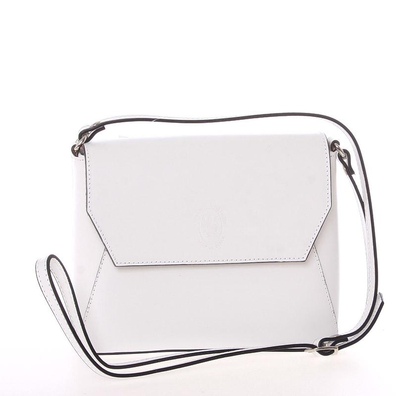 Dámská kožená crossbody kabelka bílá - ItalY Marleta