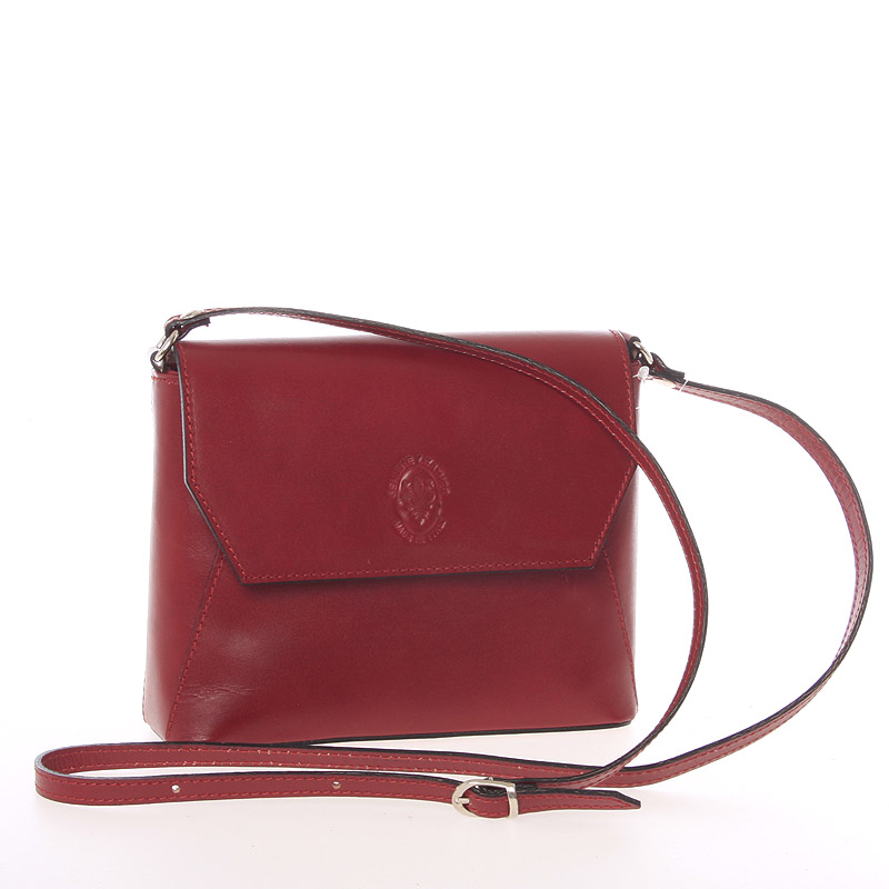 Dámská kožená crossbody kabelka červená - ItalY Marleta