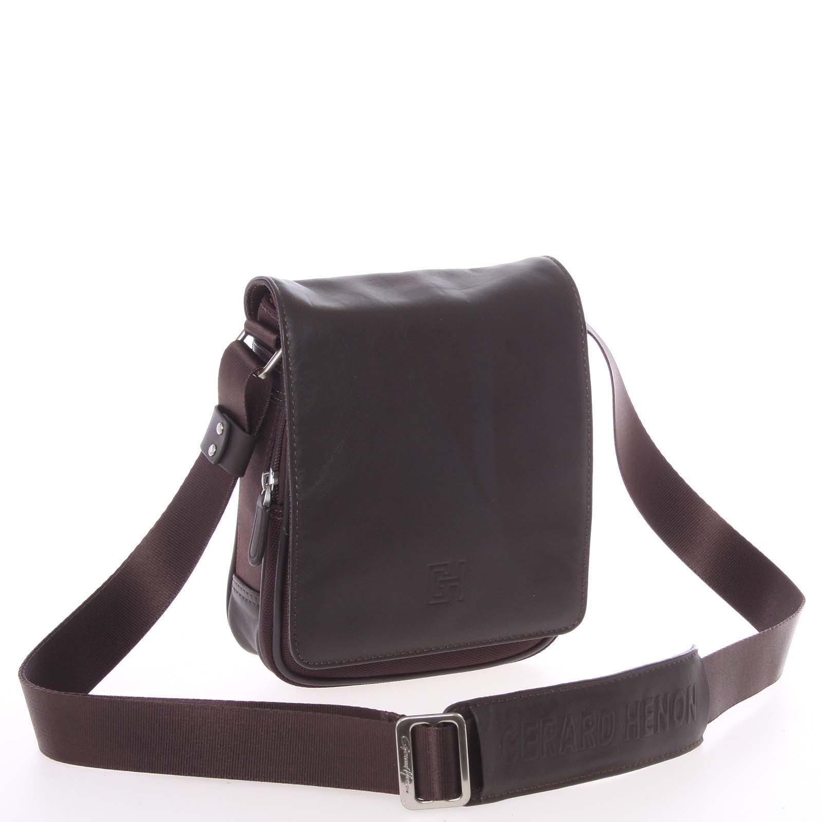 Pánská taška přes rameno na doklady hnědá - Gerard Henon Lennard