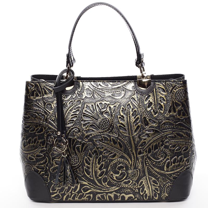 Originální dámská kožená kabelka zlatá - ItalY Mattie