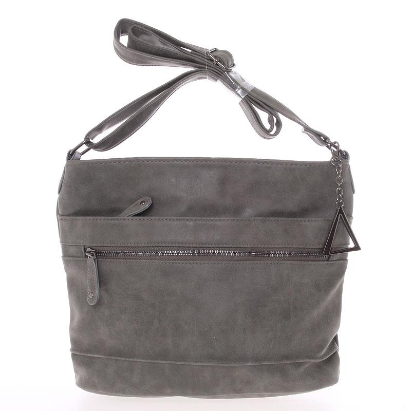 Moderní crossbody kabelka tmavě šedá - Just Dreamz Emersyn