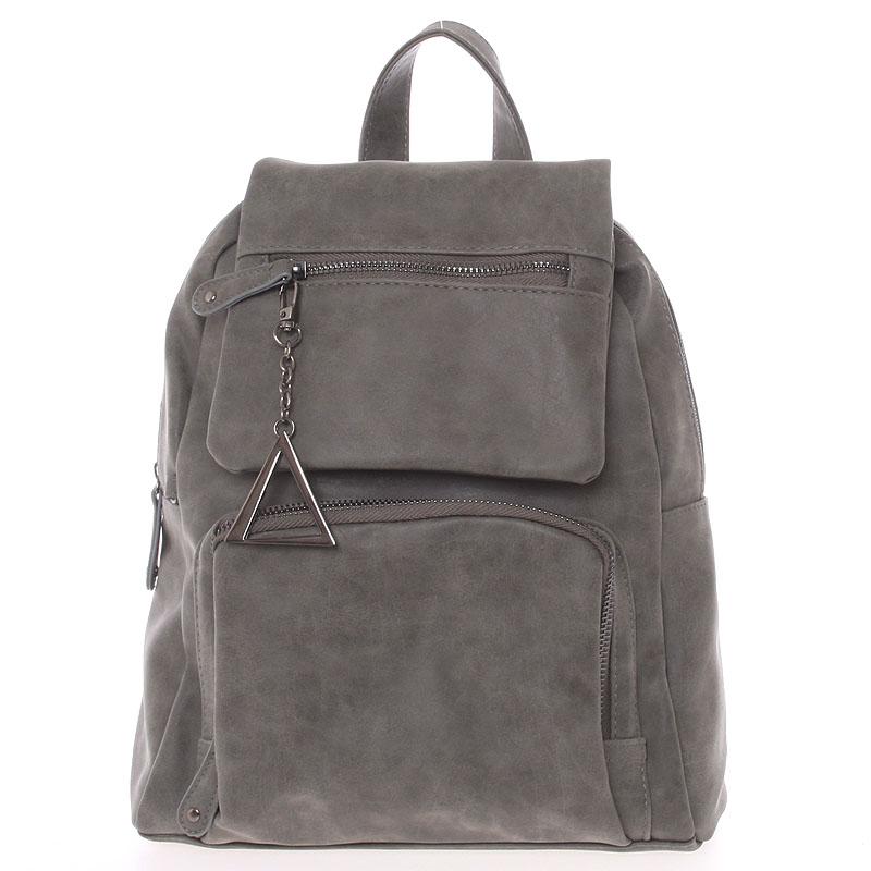 Trendy městský batůžek tmavě šedý - Just Dreamz Kaydence