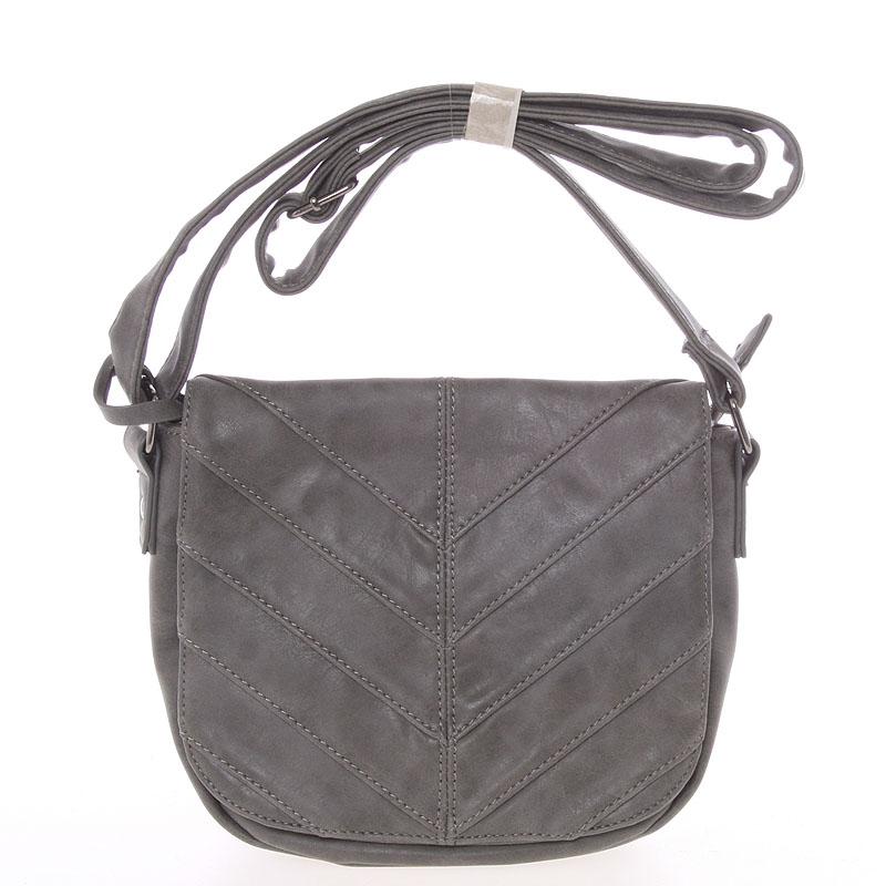 Originální crossbody kabelka tmavě šedá - Just Dreamz Emely