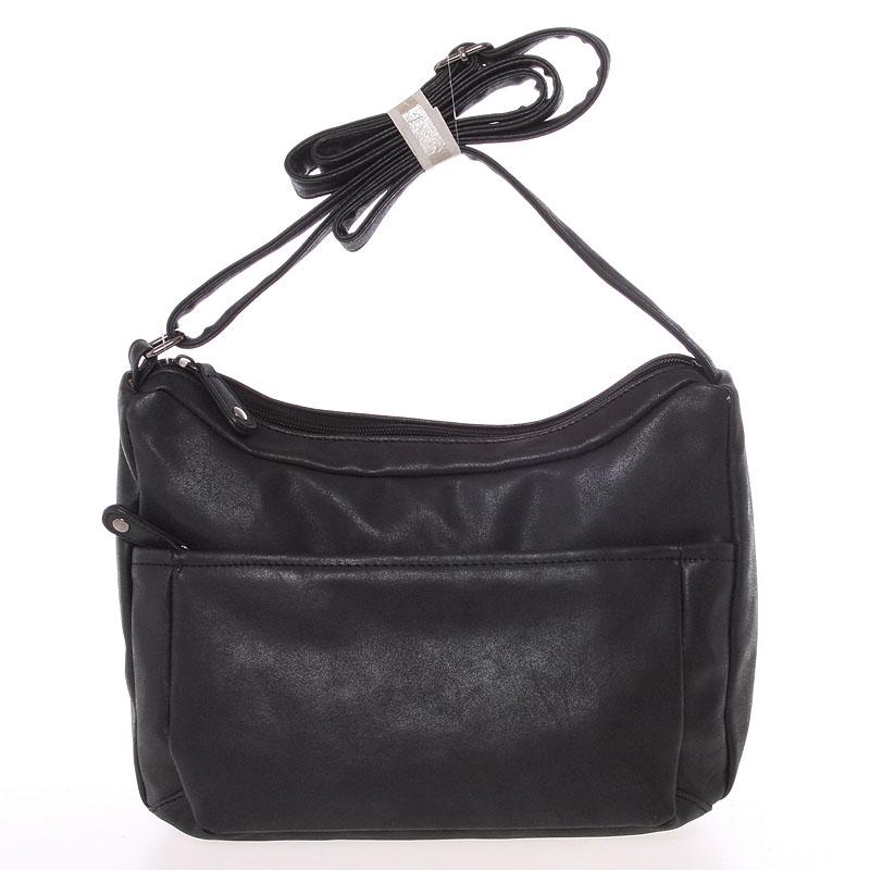 Dámská trendy crossbody kabelka černá - Just Dreamz Bethany
