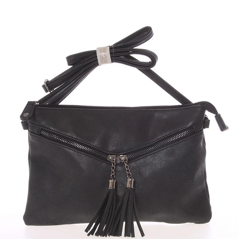 Moderní dámská crossbody kabelka černá - Just Dreamz Makenna
