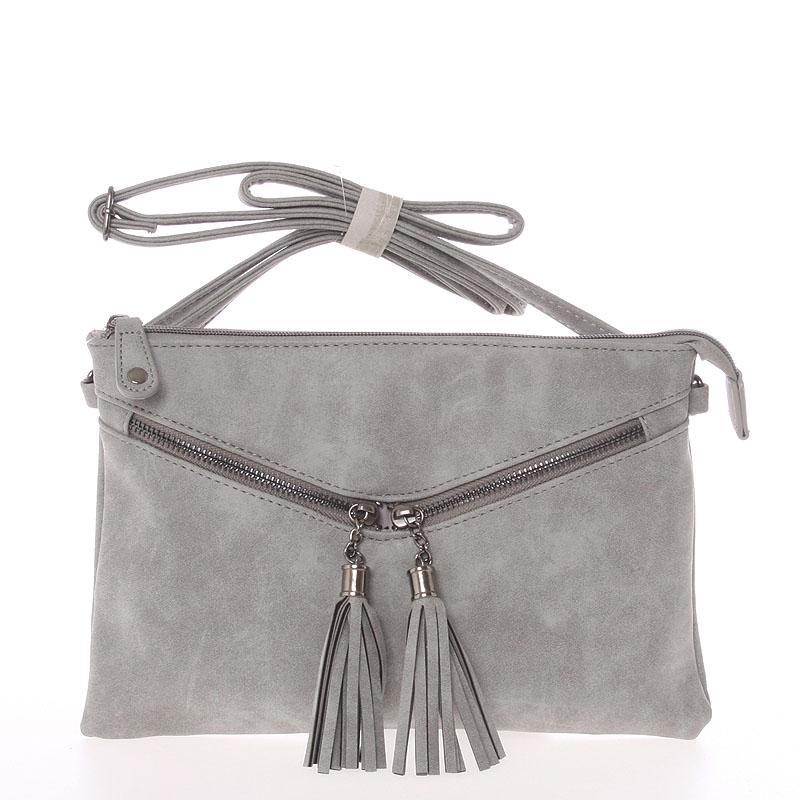 Moderní dámská crossbody kabelka šedá - Just Dreamz Makenna