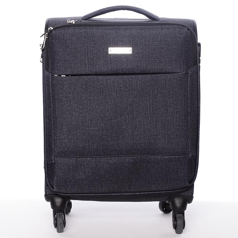 Odlehčený cestovní kufr šedý - Menqite Kisar M