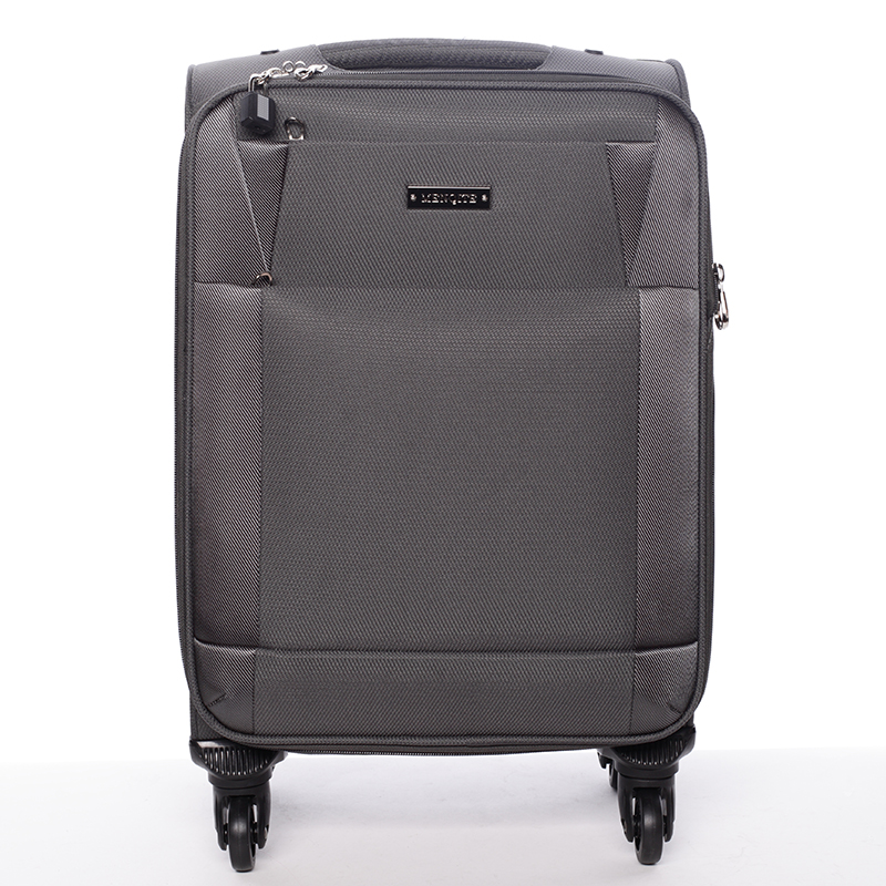 Cestovní kufr šedý - Menqite Prue S