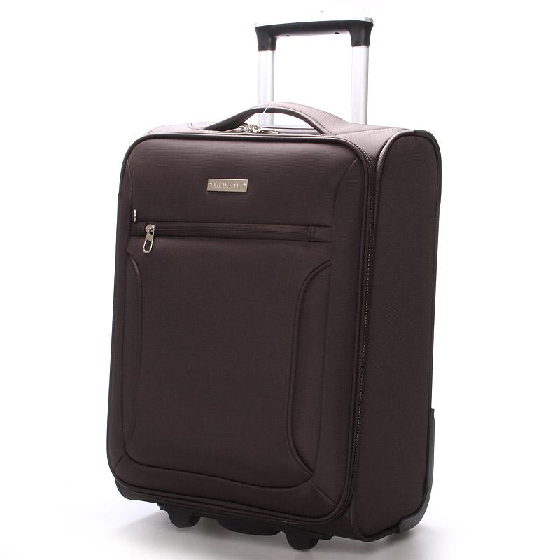 Cestovní kufr hnědý - Menqite Missa L