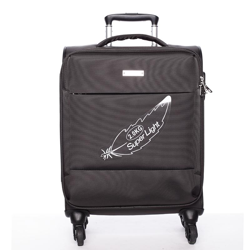 Odlehčený cestovní kufr hnědý - Menqite Kisar M