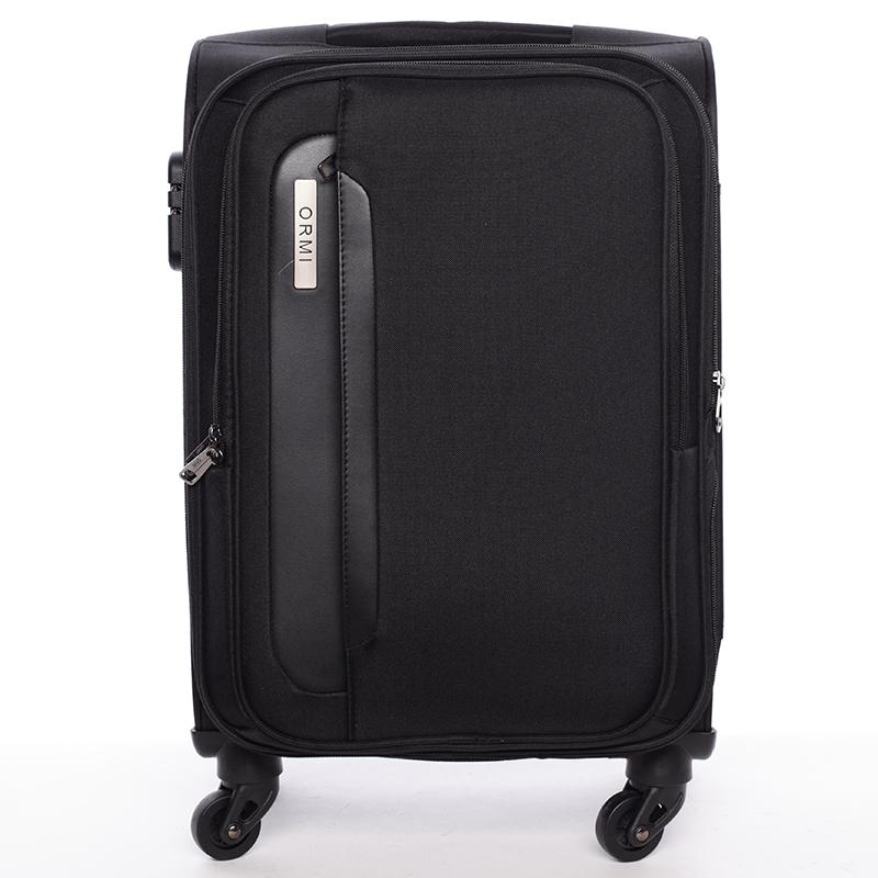 Cestovní kufr černý látkový - Ormi Kratch S