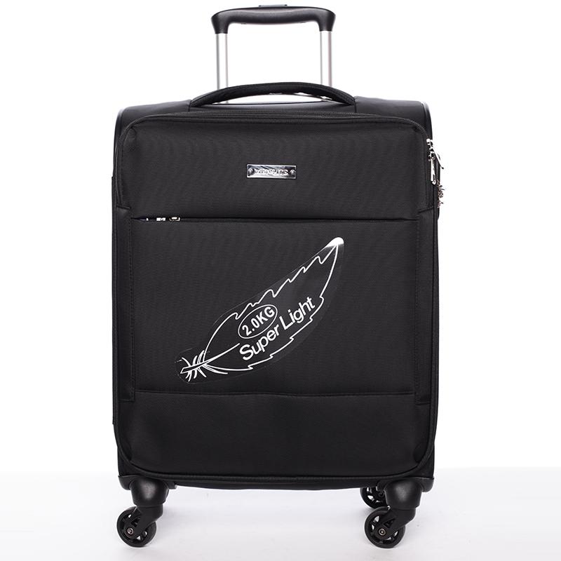 Odlehčený cestovní kufr černý - Menqite Kisar L