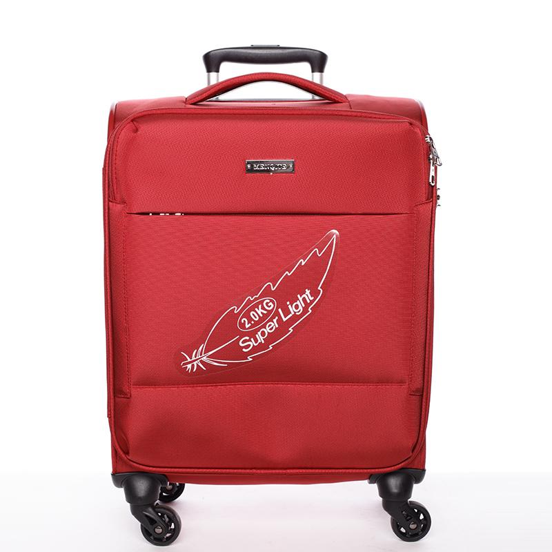Odlehčený cestovní kufr červený - Menqite Kisar L