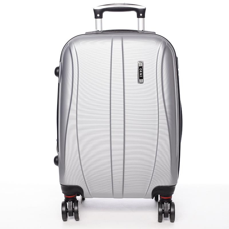 Pevný stříbrný cestovní kufr - Ormi Othelo M