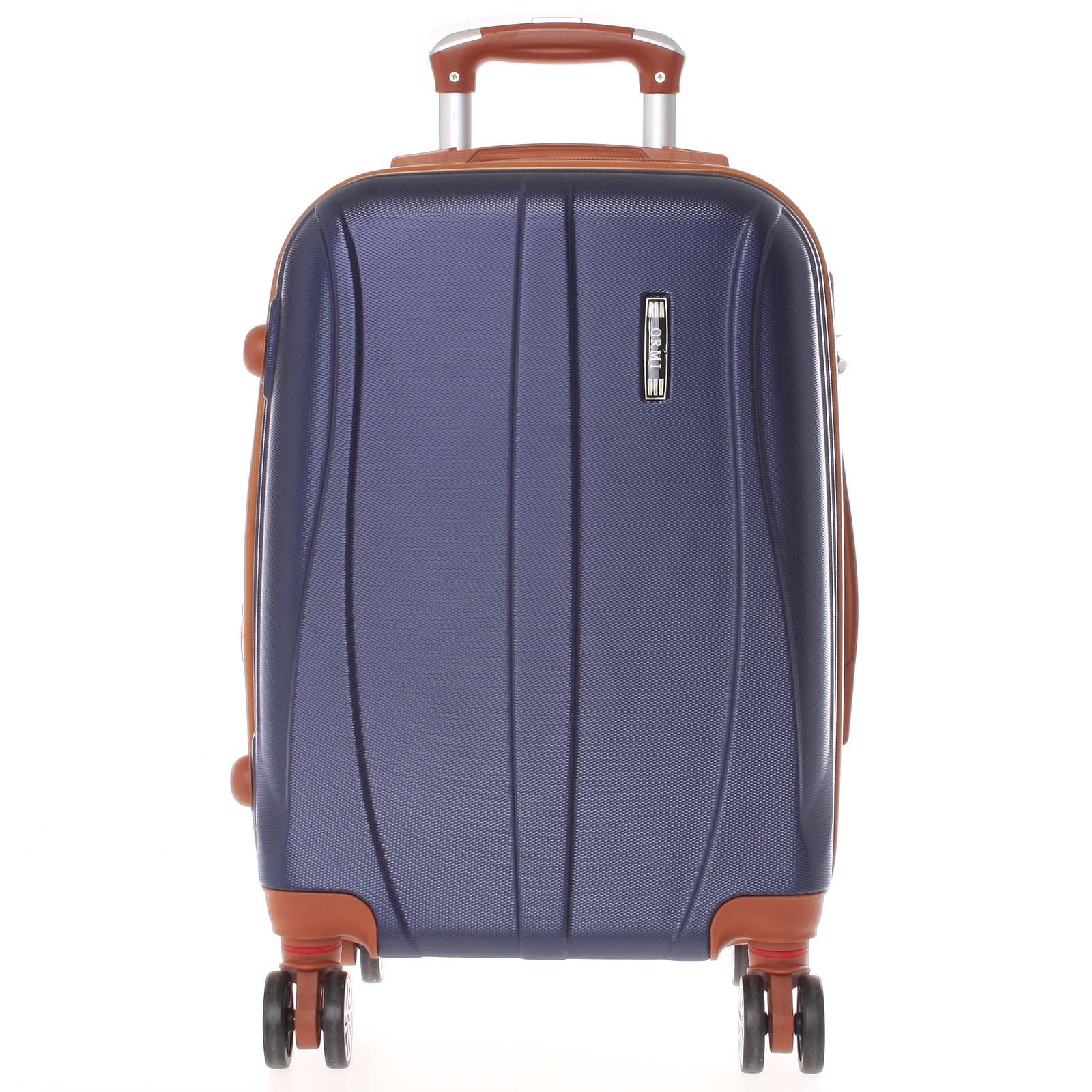 Pevný tmavě modrý cestovní kufr - Ormi Othelo L