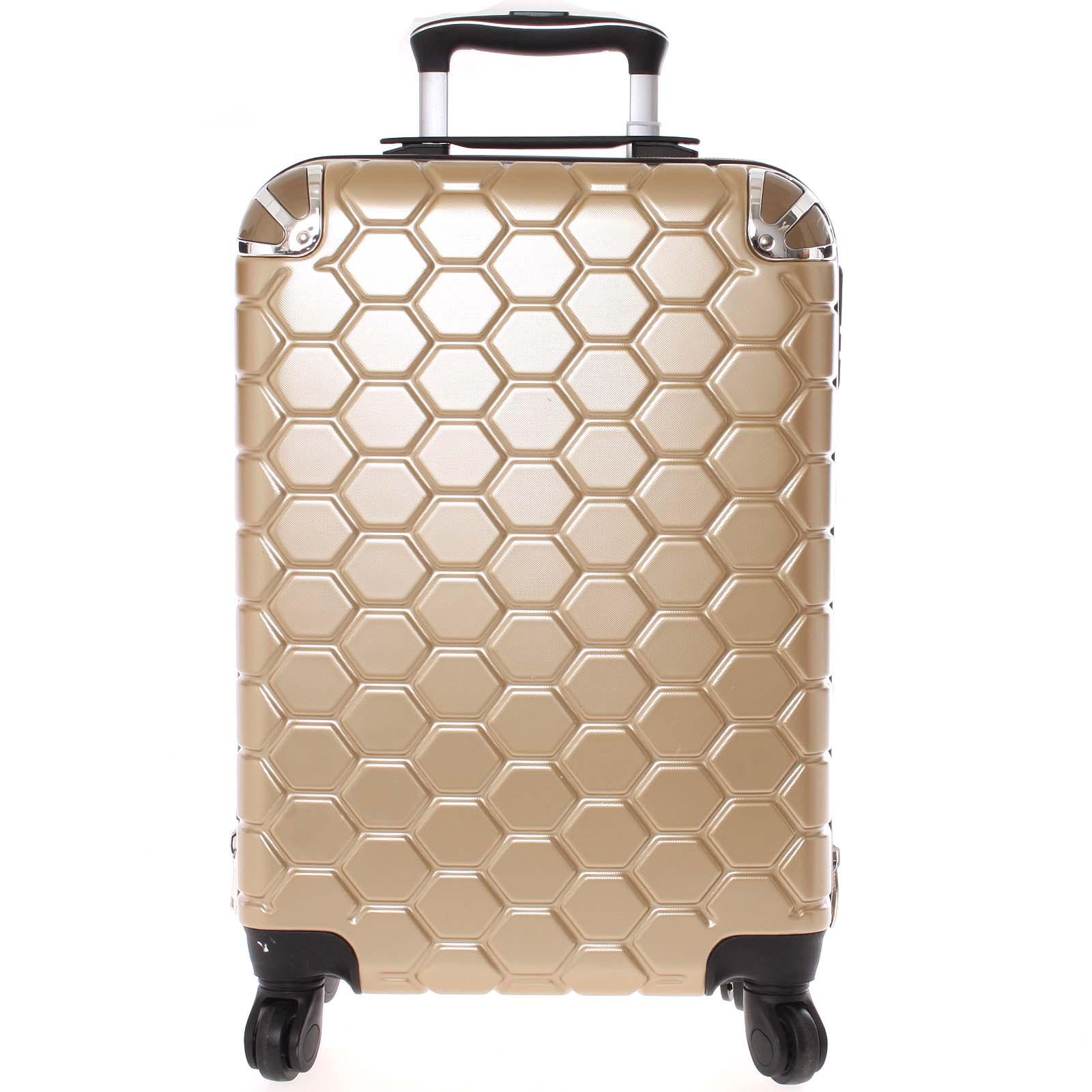 Zlatý cestovní kufr pevný - Ormi Hive L