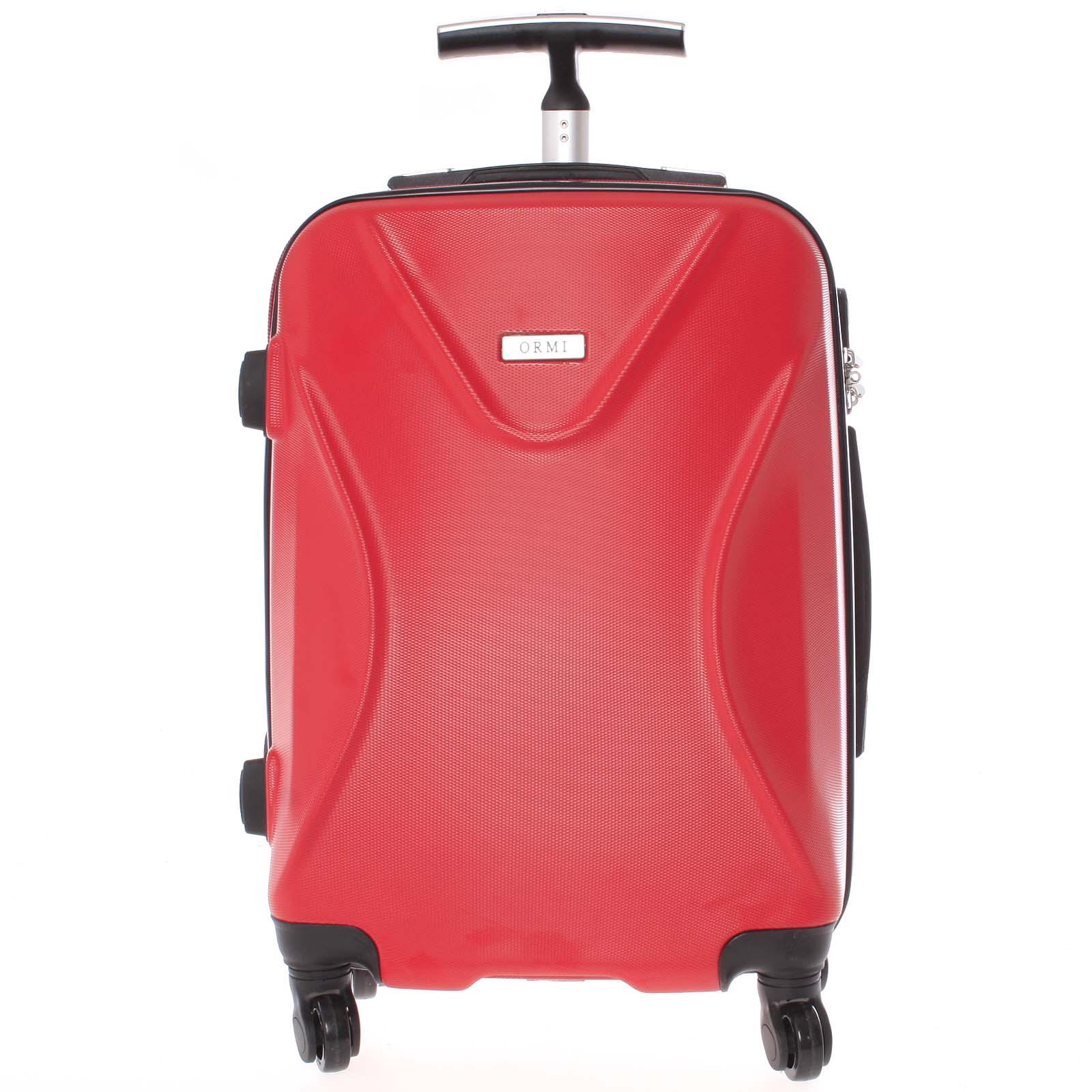Originální pevný cestovní kufr červený - Ormi Cross M
