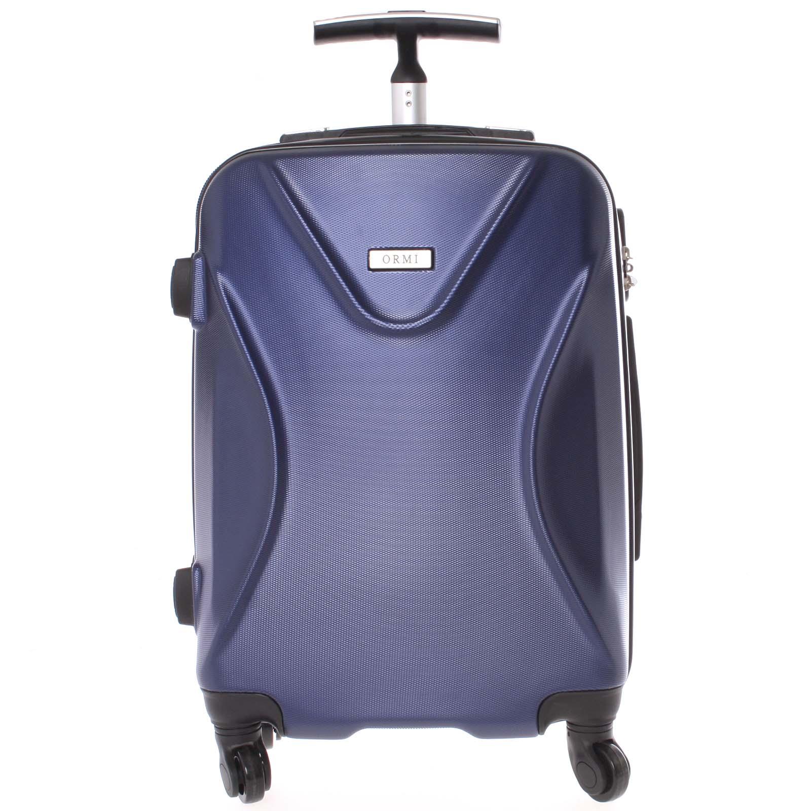 Originální pevný cestovní kufr tmavě modrý - Ormi Cross M