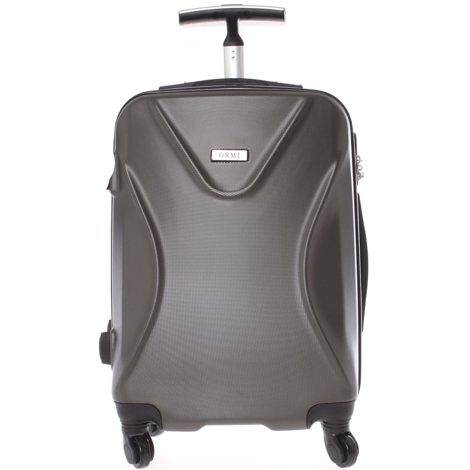 Originální pevný cestovní kufr tmavě šedý - Ormi Cross M