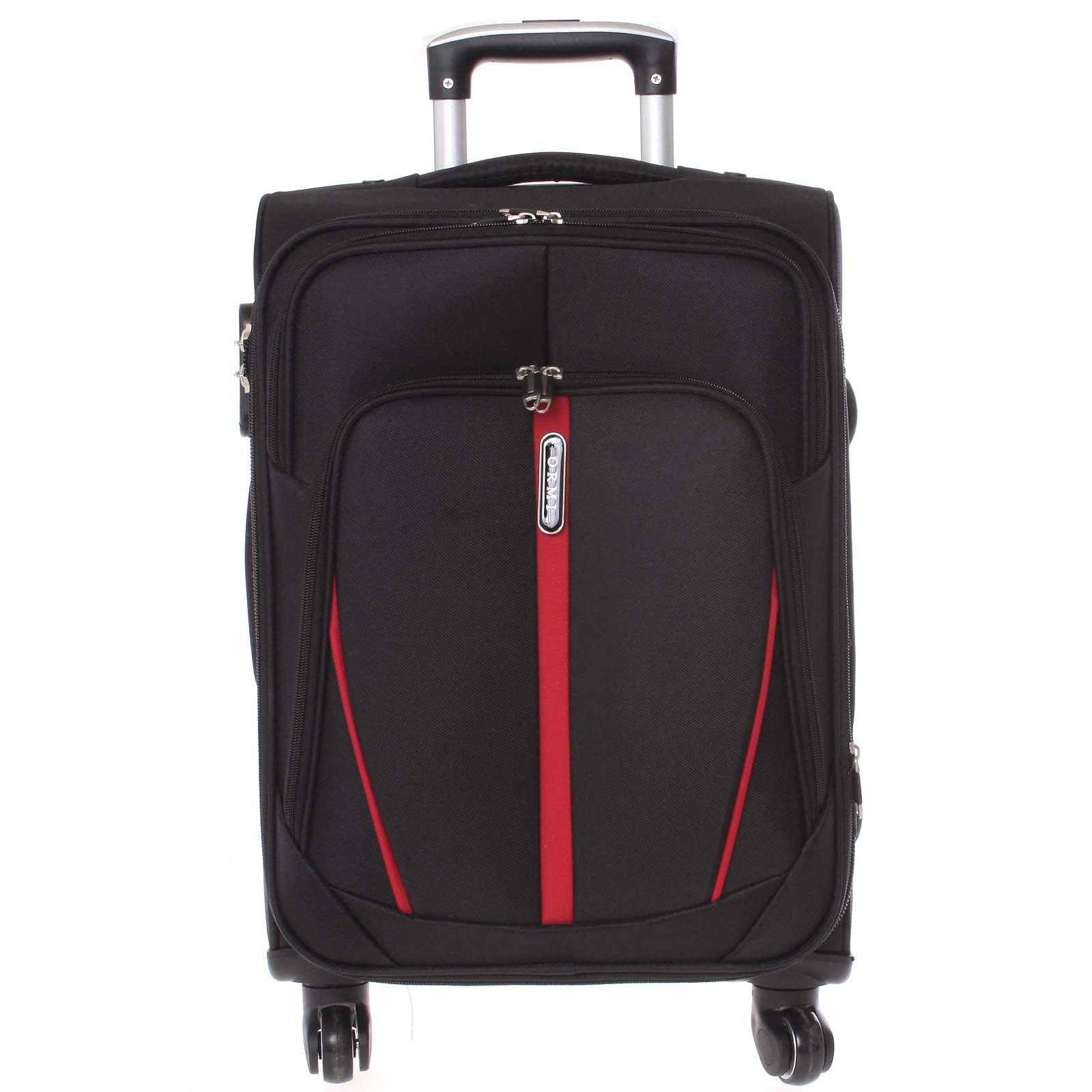 Látkový černý cestovní kufr - Ormi Grave L