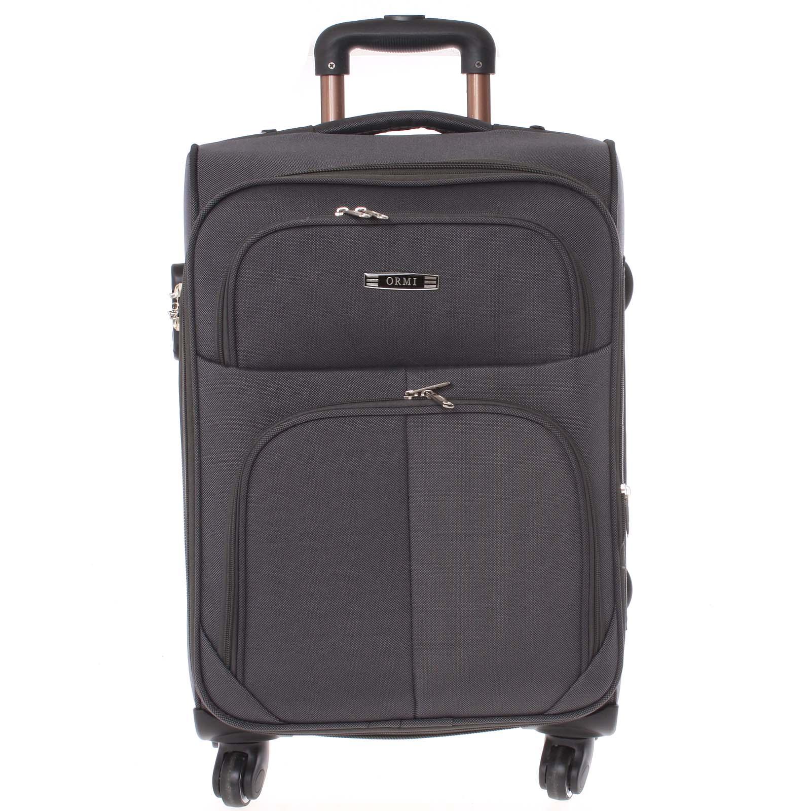 Cestovní kufr šedý - Ormi Tessa S