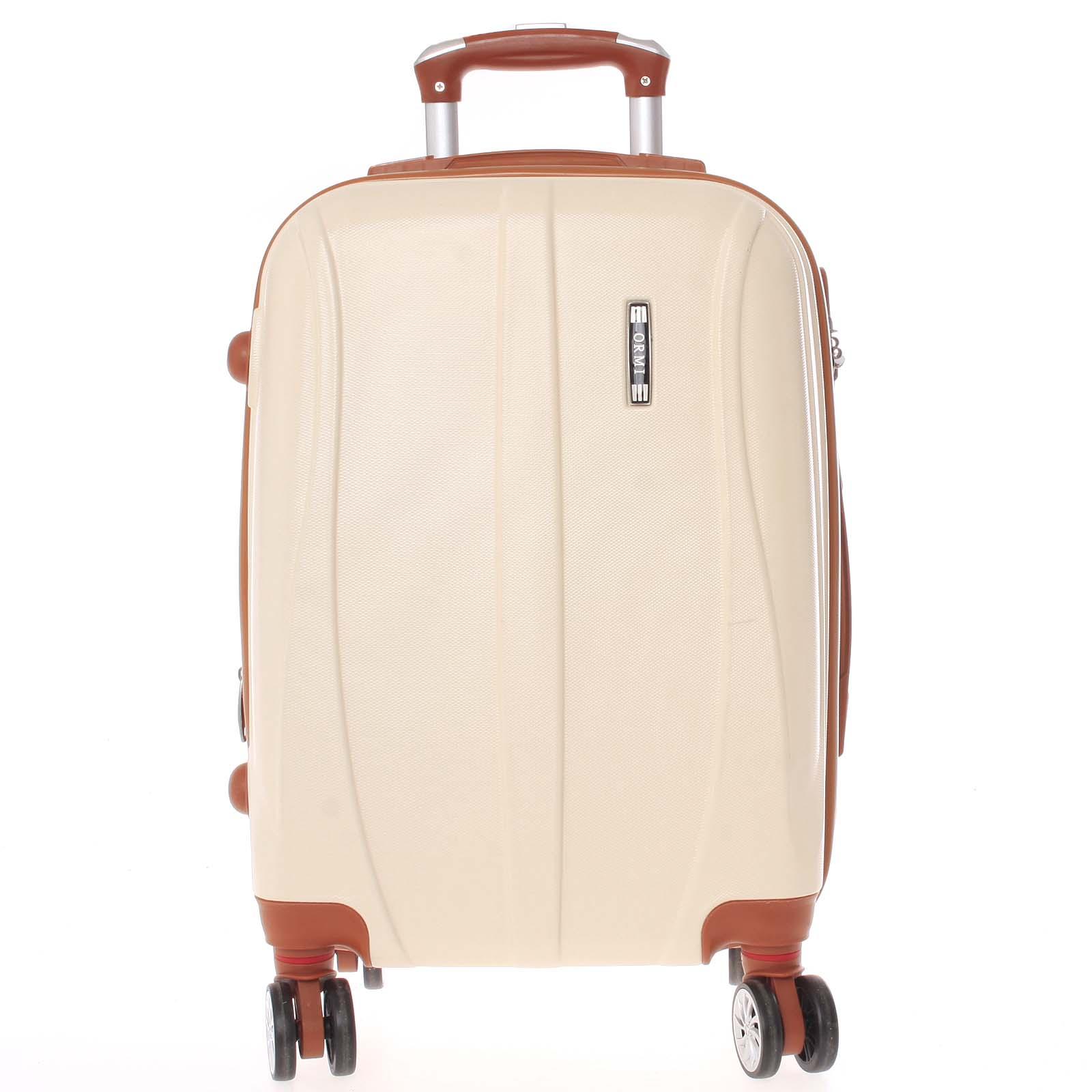 Pevný béžový cestovní kufr - Ormi Othelo M