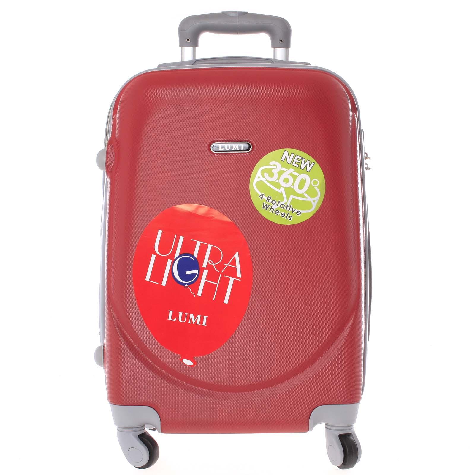 Pevný cestovní kufr červený - Lumi Evenger M