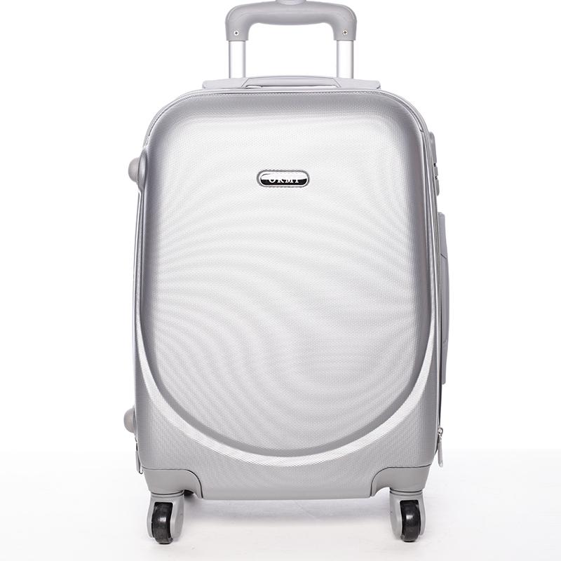 Pevný cestovní kufr stříbrný - Ormi Evenger S