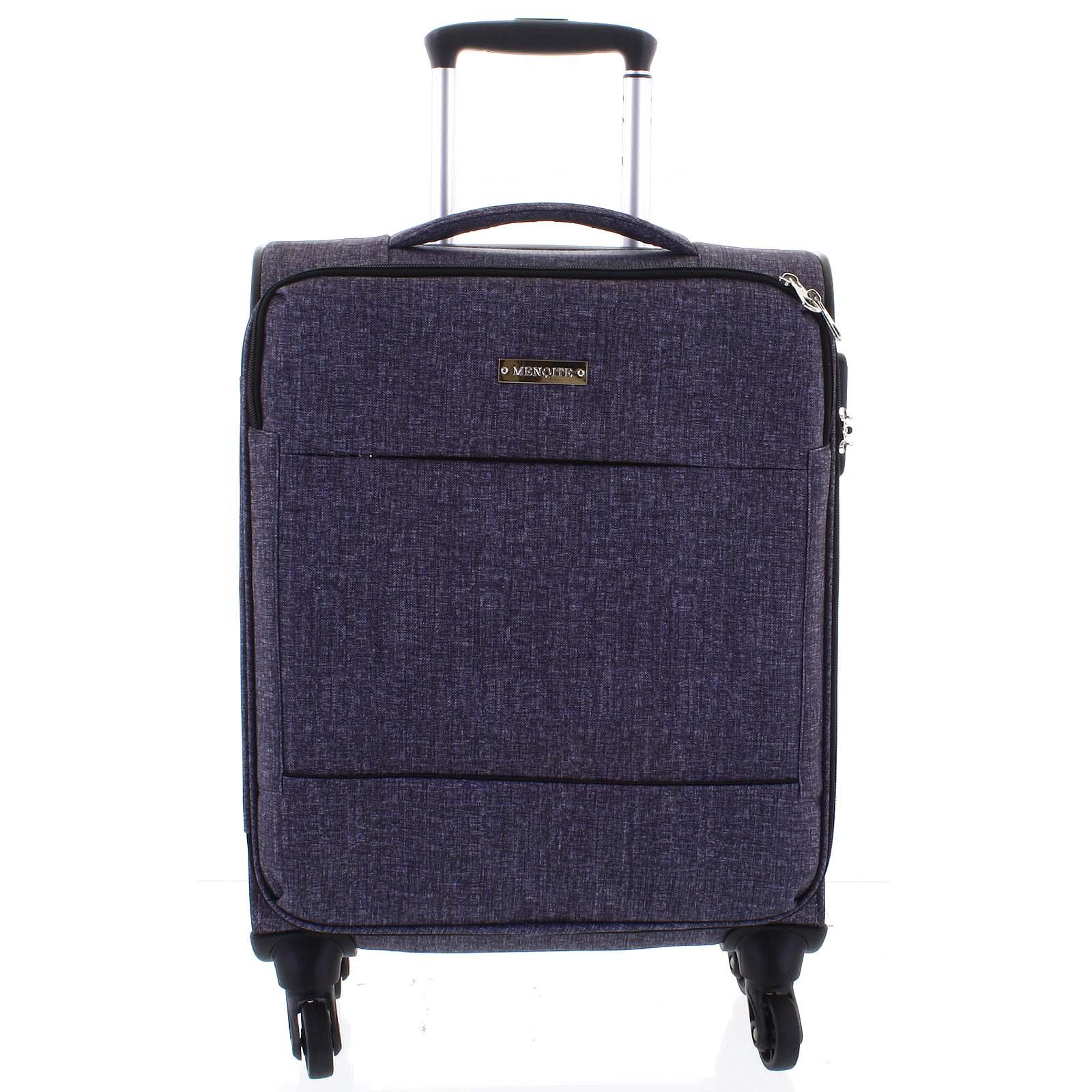 Odlehčený cestovní kufr světle šedý - Menqite Kisar M