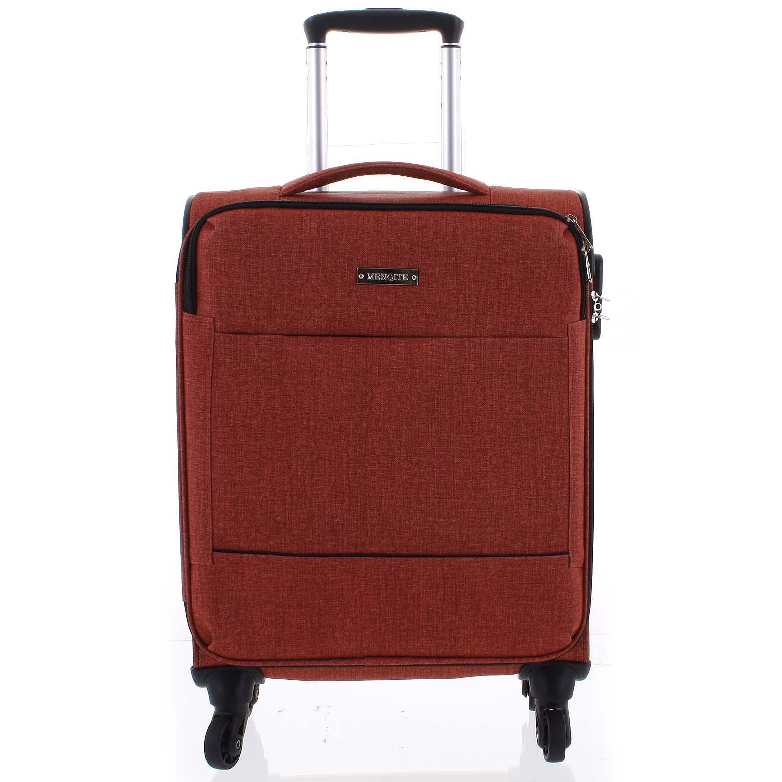 Odlehčený cestovní kufr malinově červený - Menqite Kisar L