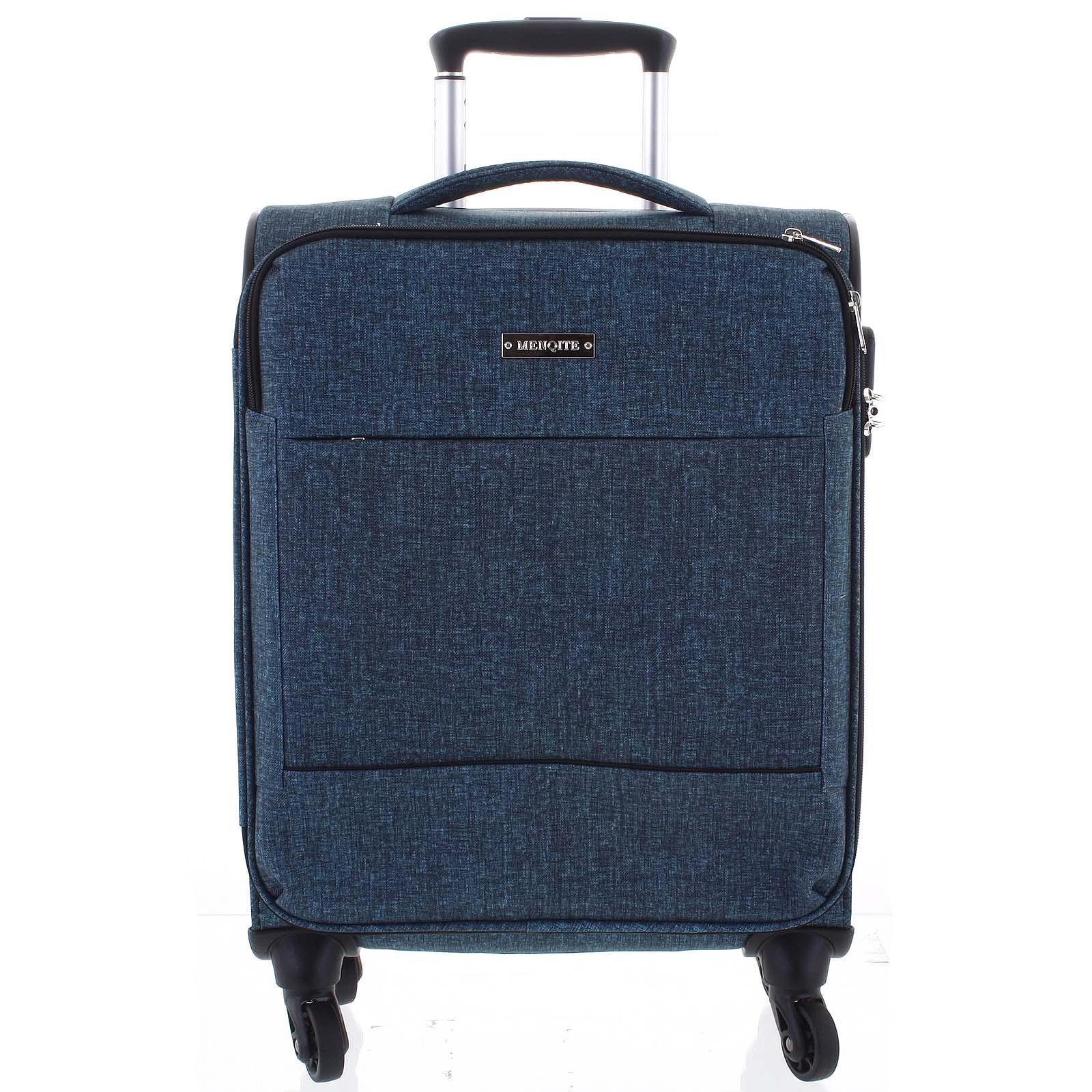 Odlehčený cestovní kufr zelený - Menqite Kisar L