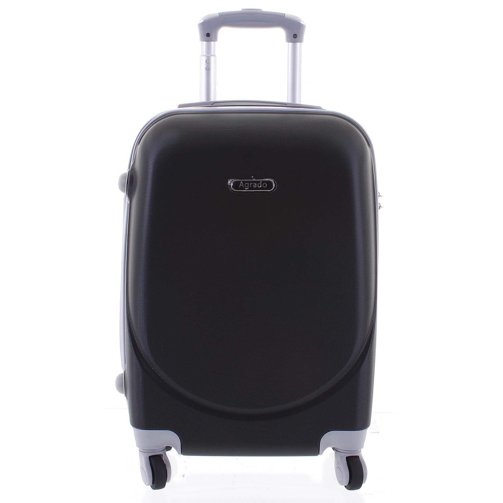 Kvalitní a elegantní pevný černý cestovní kufr - Agrado Peter M