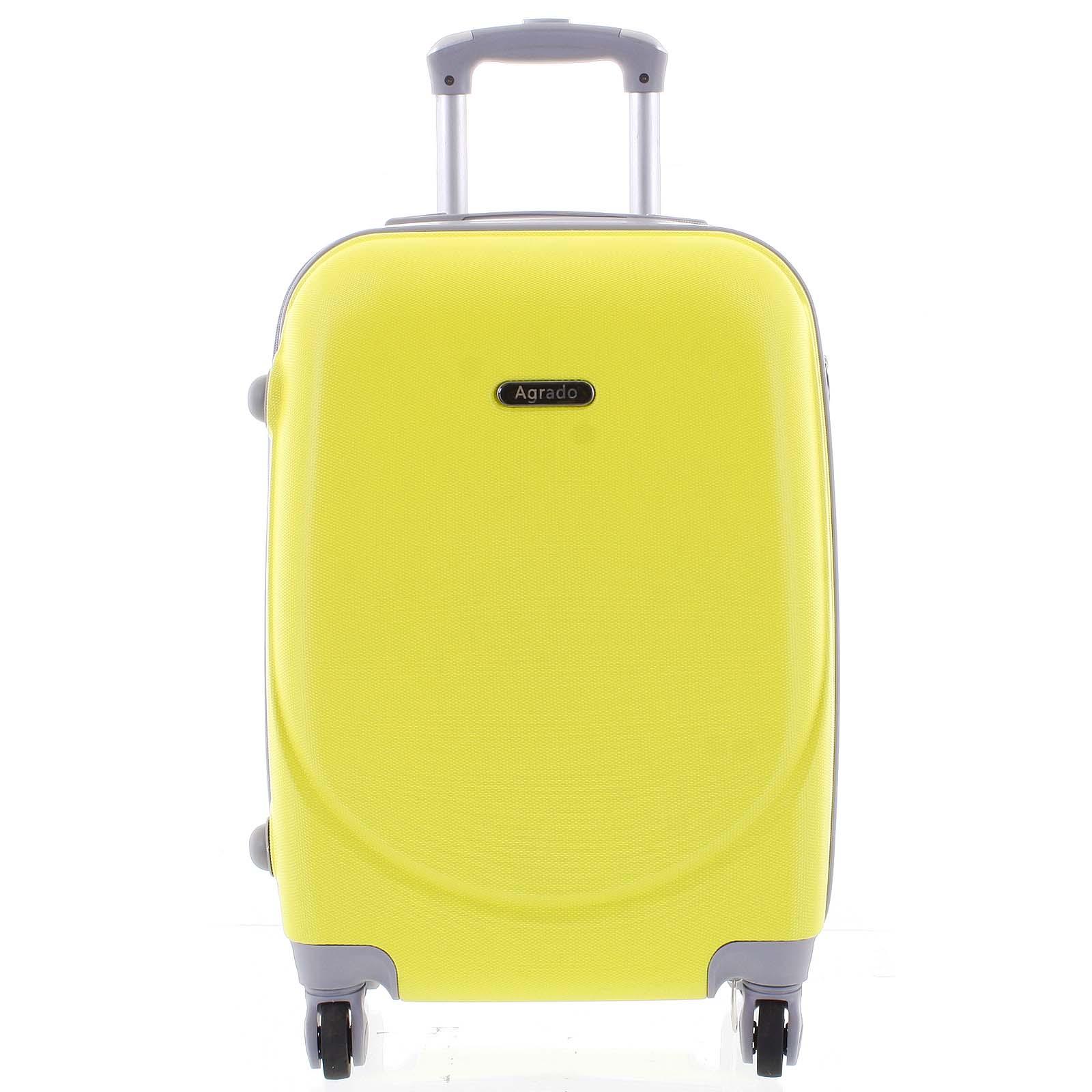 Kvalitní a elegantní pevný zářivě žlutý cestovní kufr - Agrado Peter M