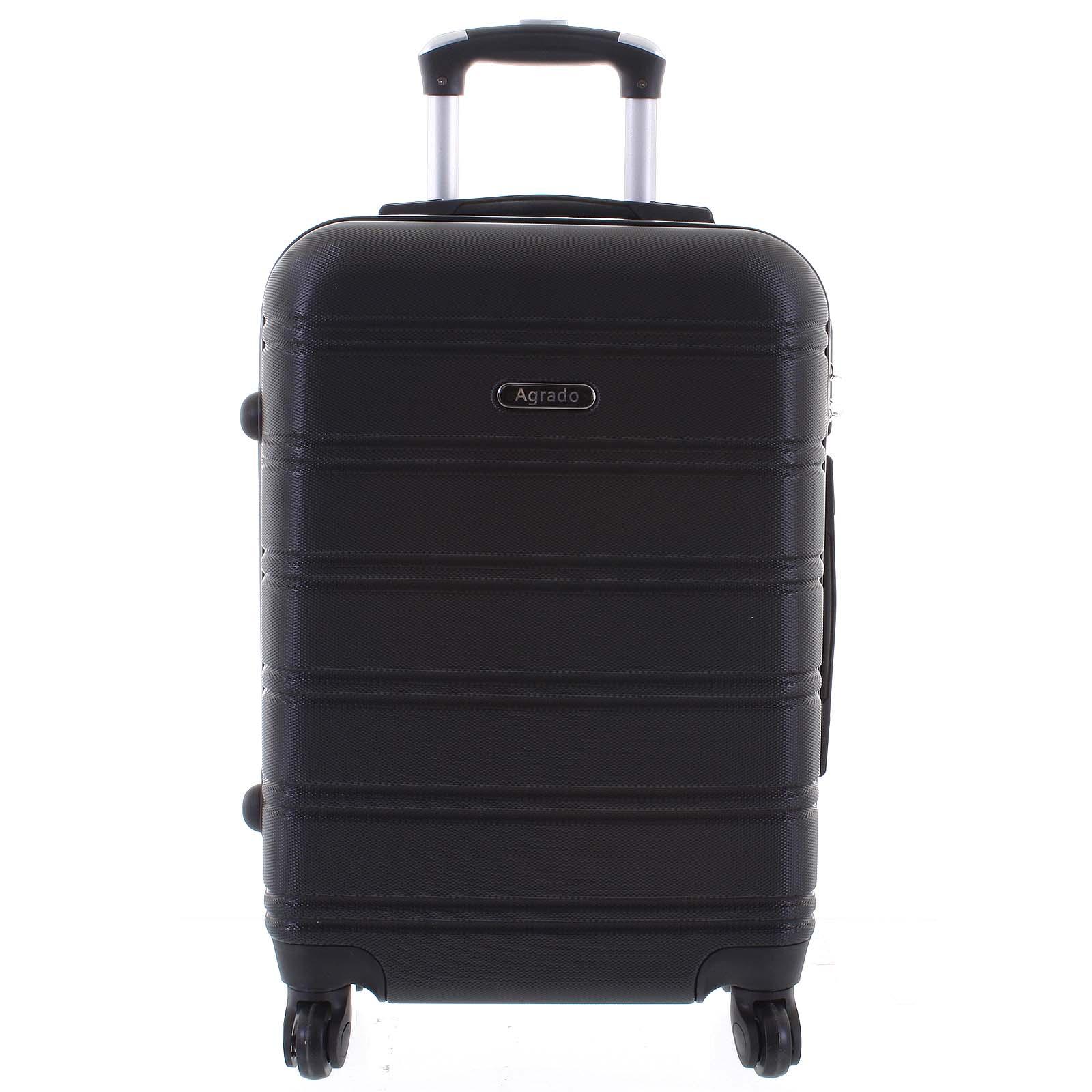 Kvalitní a elegantní pevný černý cestovní kufr - Agrado Michael L