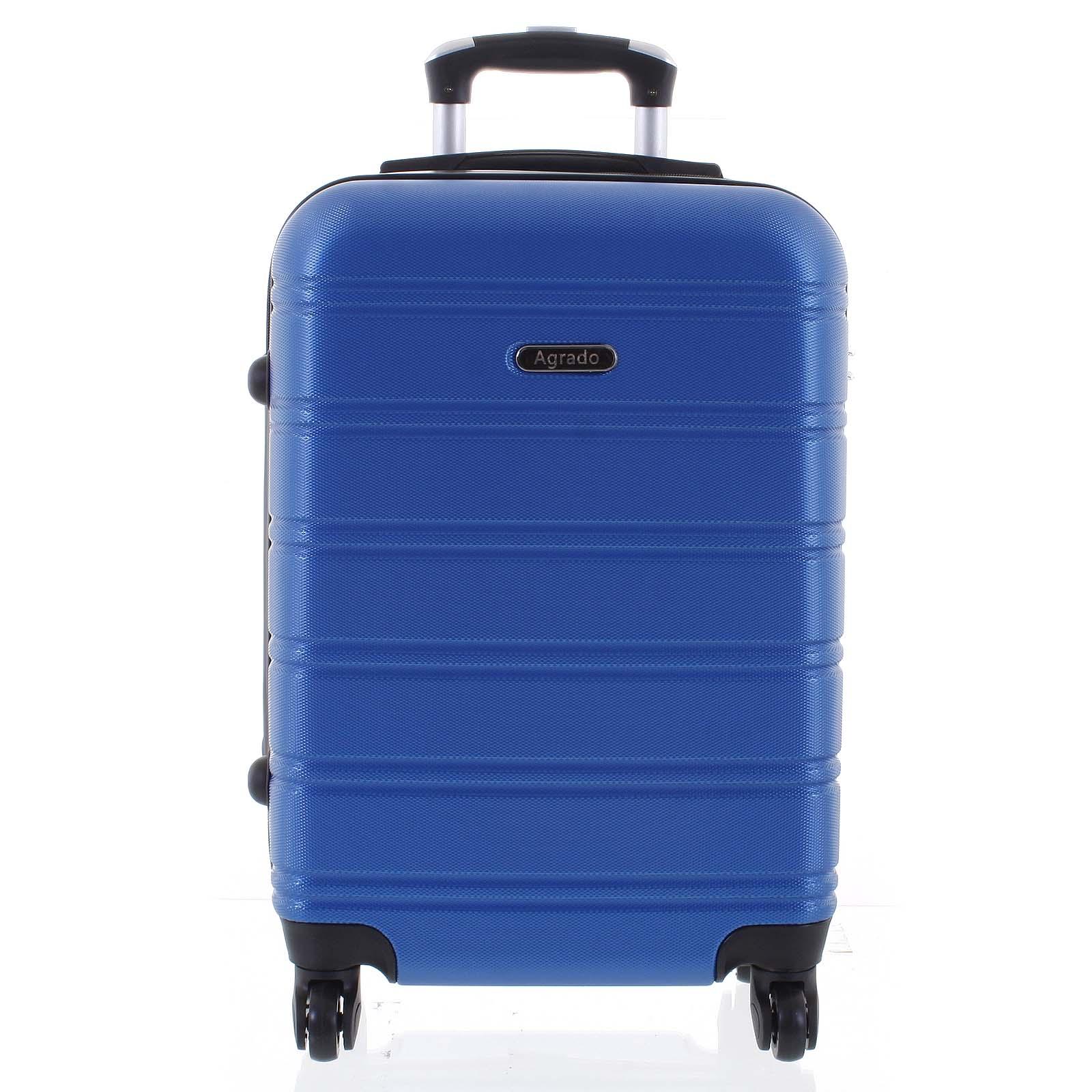 Kvalitní a elegantní pevný zářivě modrý cestovní kufr - Agrado Michael M