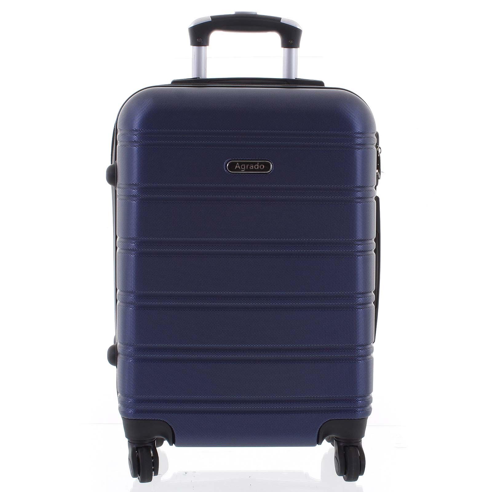 Kvalitní a elegantní pevný tmavě modrý cestovní kufr - Agrado Michael L