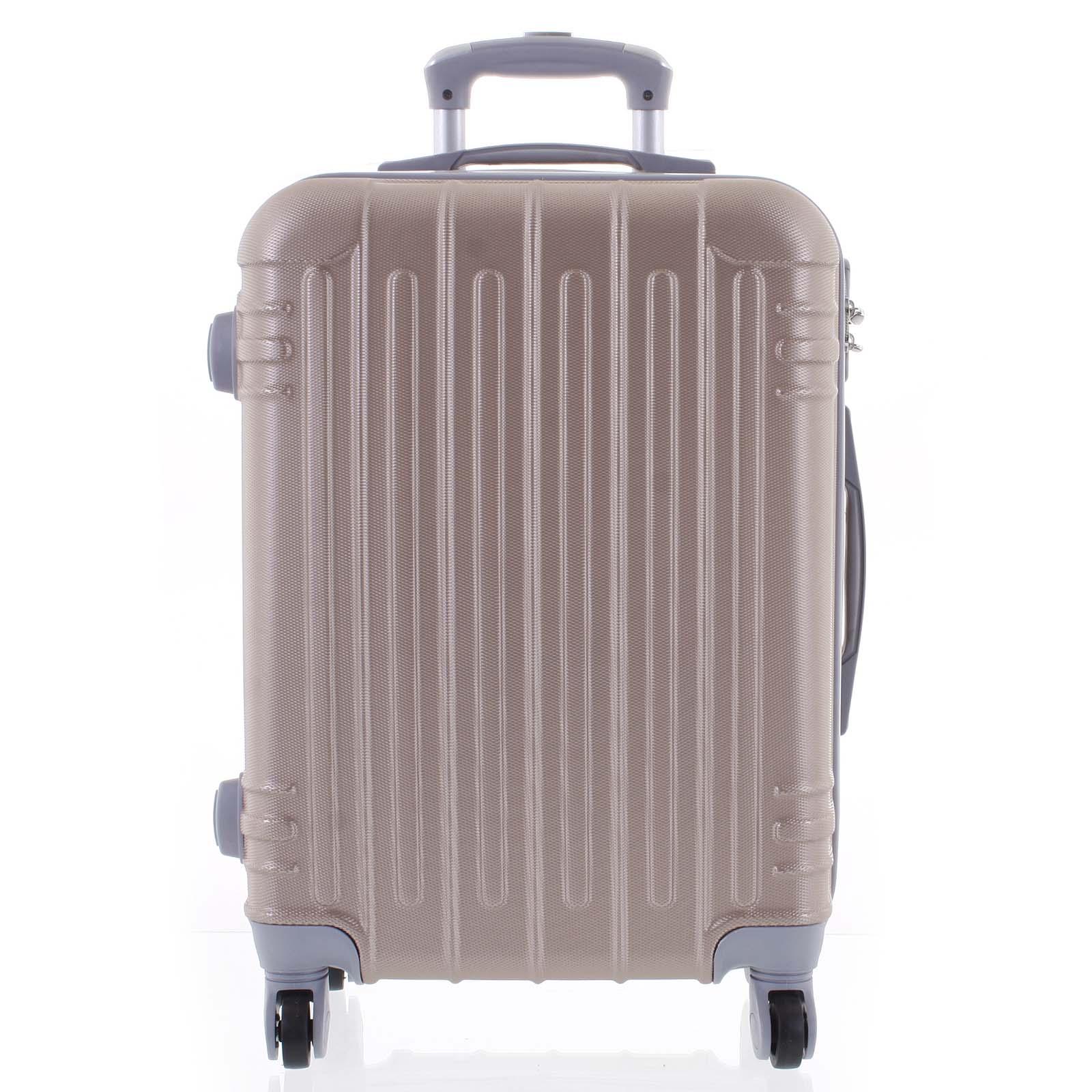 Moderní růžově zlatý skořepinový cestovní kufr - Ormi Dopp S